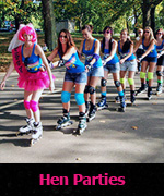 Hen Parties fun on skates
