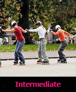 Intermediate skating lessons