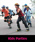 Kids Parties skating birthday parties