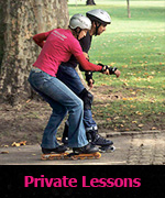 Private skating lessons with qualified instructors
