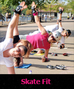 Skate Fit exercise on skates