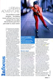 Health & Fitness Urban Adventure Skatefresh September 2002