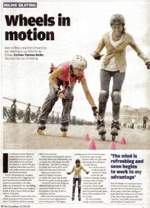 The Guardian article Skatefresh wheels in motion