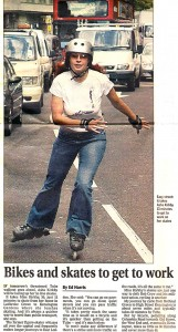 The Evening Standard Skatefresh Bikes ad Skates 28. June 2004