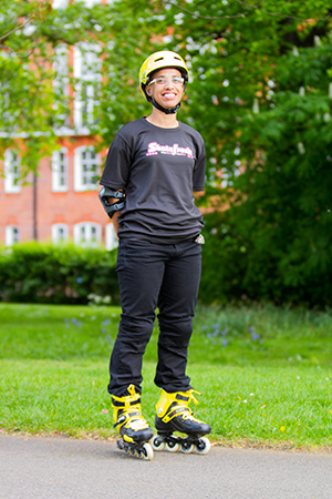Pauline skating instructor in Reading