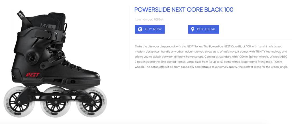 Powerslide Next Core Black 100 inline skates