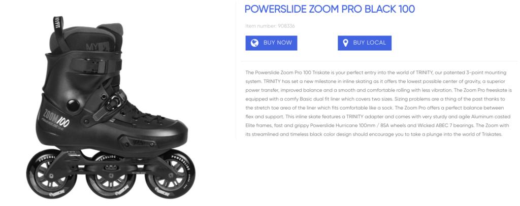 Powerslide Zoom Pro Black inline skate