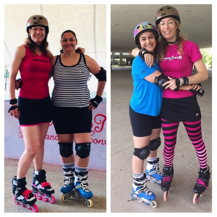 Inline skater before and after weightloss with Asha from Skatefresh