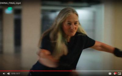 Edwina – skating in her 70's