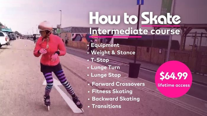 How to Skate Intermediate online course - Skatefresh Asha