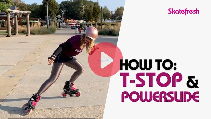 Video tutorial: How to T-Stop and Powerslide on inline skates