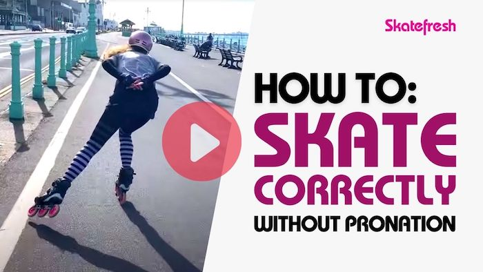 Video tutorial: How to skate correctly without pronation on inline skates