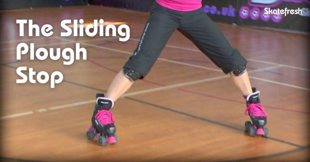 Sliding plough stop on roller skates - Skatefresh Asha