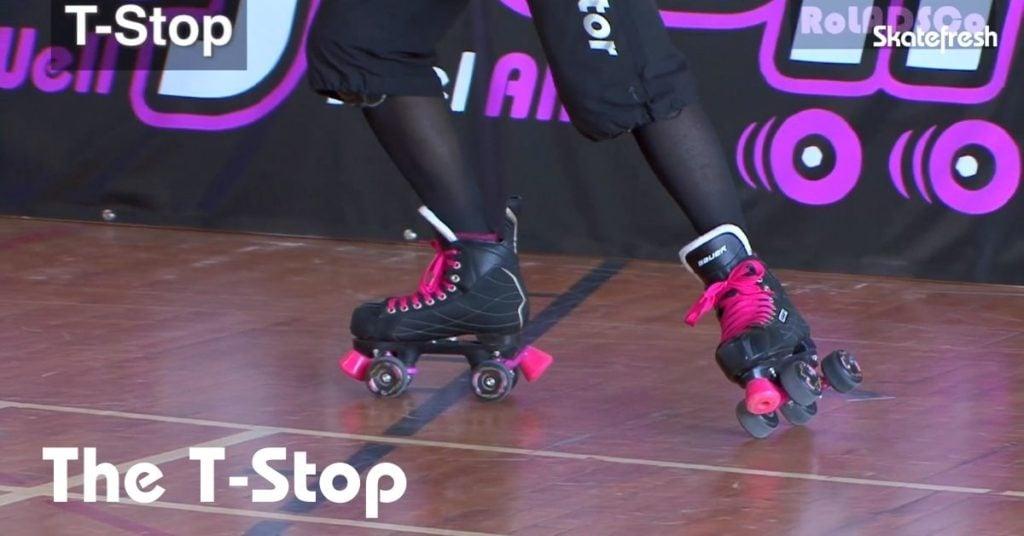 T-Stop on roller skates - Skatefresh Asha