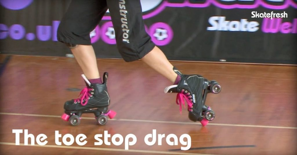 Toe stop drag on rollerskates - Skatefresh Asha