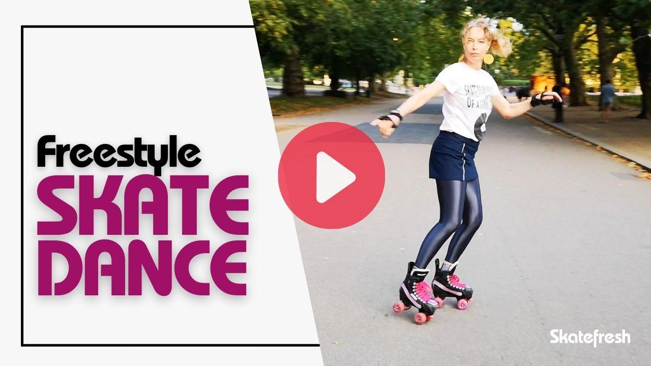Freestyle skate dance video cover from Skatefresh Asha